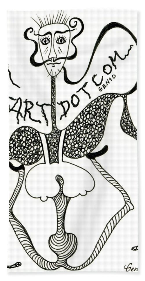 Genio Beach Towel featuring the drawing Fart by Genio GgXpress
