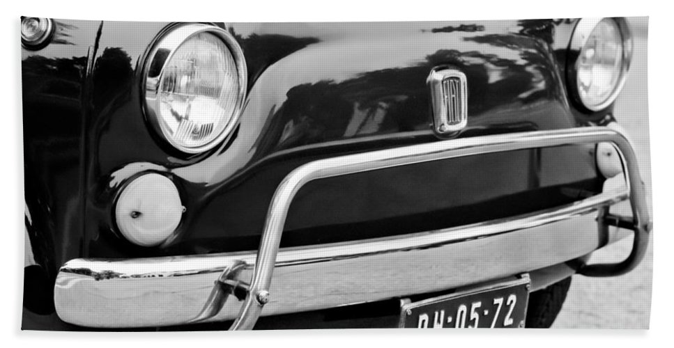 Fiat 500 L Front End Beach Towel featuring the photograph Fiat 500 L Front End by Jill Reger