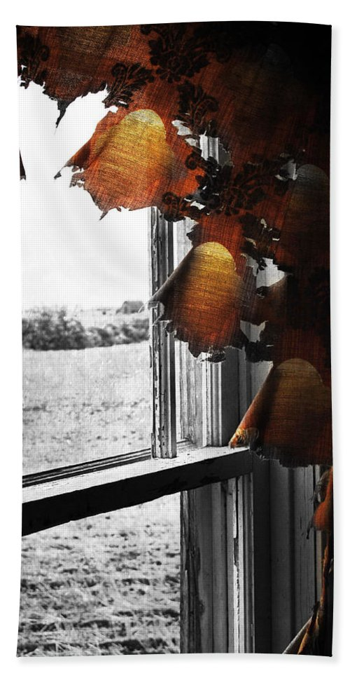 Red Beach Towel featuring the photograph Fire Curtains by The Artist Project