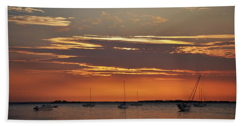 Fire In The Sky Beach Towel featuring the photograph Fire In The Sky by Bill Cannon