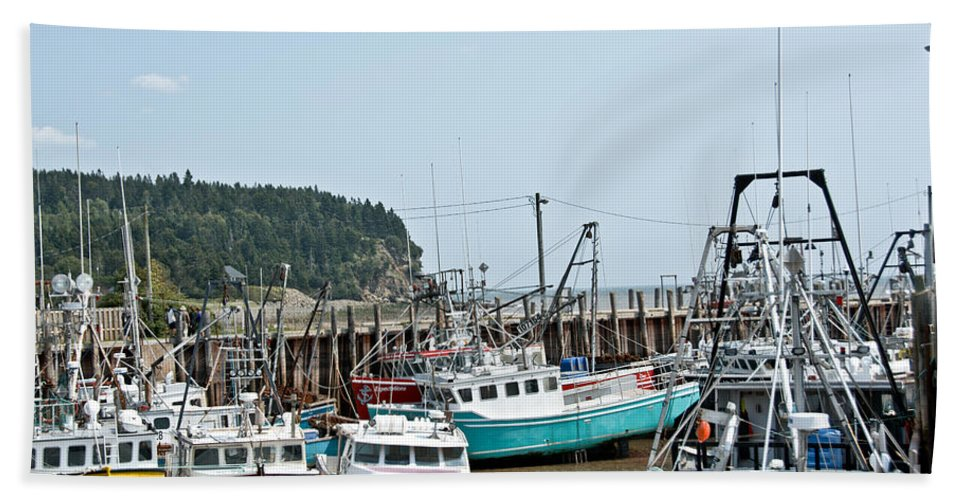 Beach Towel featuring the photograph Fishing Boats by Cheryl Baxter