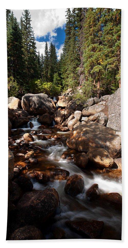 Rivers & Streams Photograph Beach Towel featuring the photograph Geneva Falls by Jim Garrison