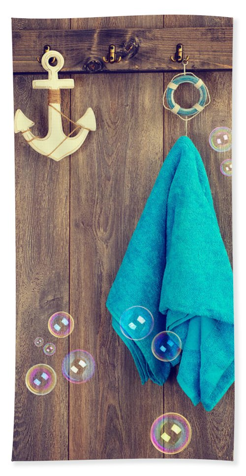Towel Beach Towel featuring the photograph Hanging Towel by Amanda Elwell
