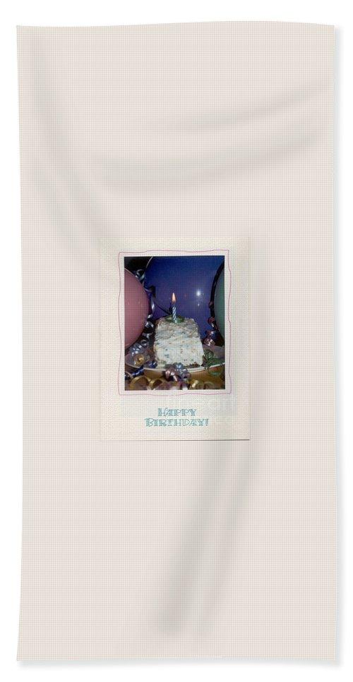 Greeting Beach Towel featuring the photograph Happy Birthday by Sharon Elliott