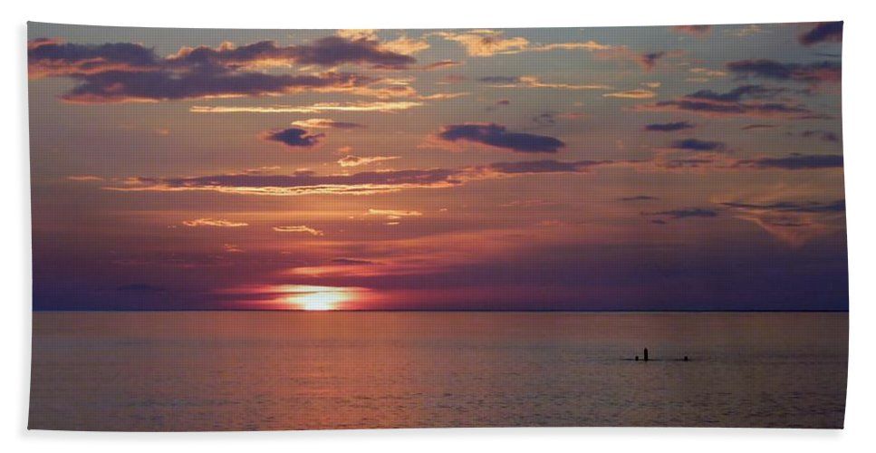 Color Beach Towel featuring the photograph Harvest Sunset by Amar Sheow