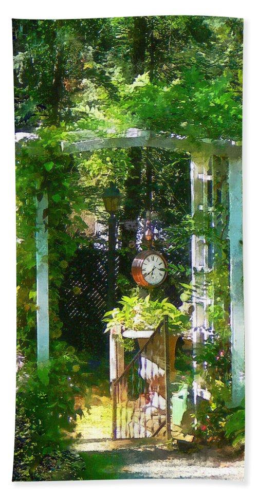 Garden Beach Towel featuring the photograph Hidden Garden by Susan Savad