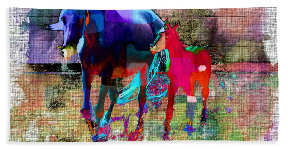 Horse Beach Towel featuring the photograph Horses Of Different Colors by Ericamaxine Price