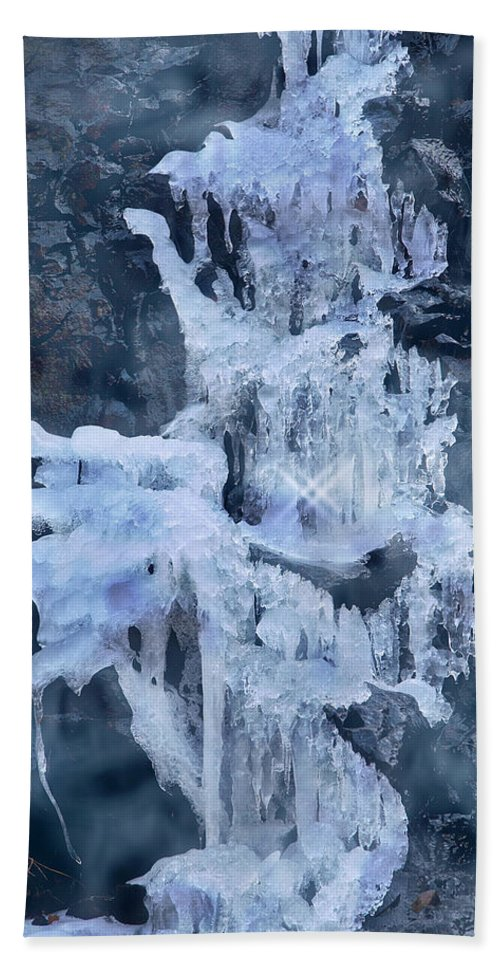 Ice Beach Towel featuring the photograph Ice Sculpture by Yuri Lev