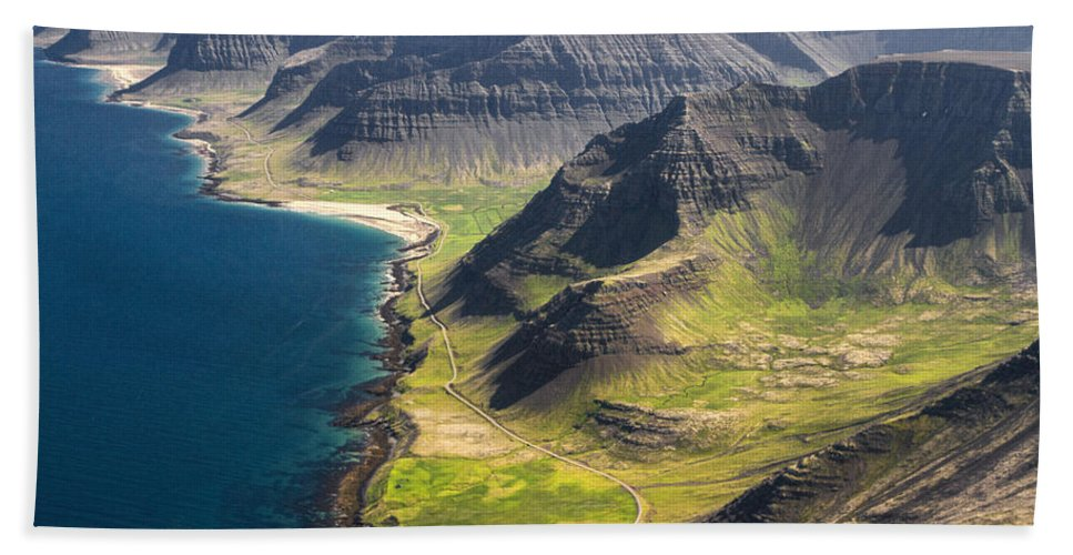 Flight Beach Towel featuring the photograph Iceland Plateau Mountains by For Ninety One Days