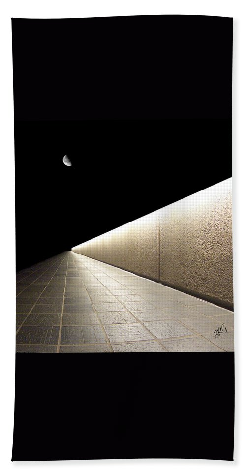 Abstract Architecture Beach Towel featuring the photograph Into The Night I by Ben and Raisa Gertsberg