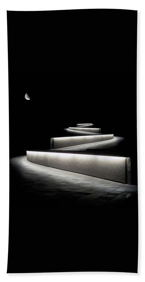 Abstract Architecture Beach Towel featuring the photograph Into The Night II by Ben and Raisa Gertsberg