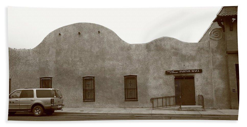 Adobe Beach Towel featuring the photograph Las Vegas New Mexico Church by Frank Romeo