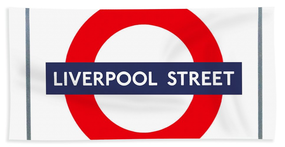 Blue Beach Towel featuring the photograph Liverpool Street by Semmick Photo