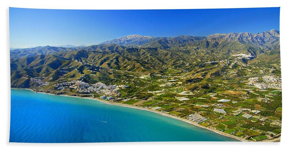 Air Beach Towel featuring the photograph Mediterranean Sea From The Air by Guido Montanes Castillo