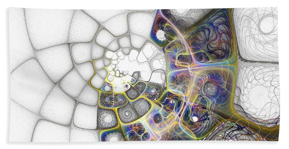 Digital Art Beach Towel featuring the digital art Memories by Amanda Moore
