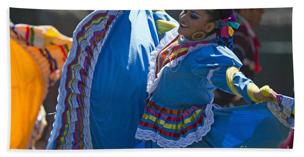 Mexican Beach Towel featuring the photograph Mexican Folk Dancers by Jason O Watson