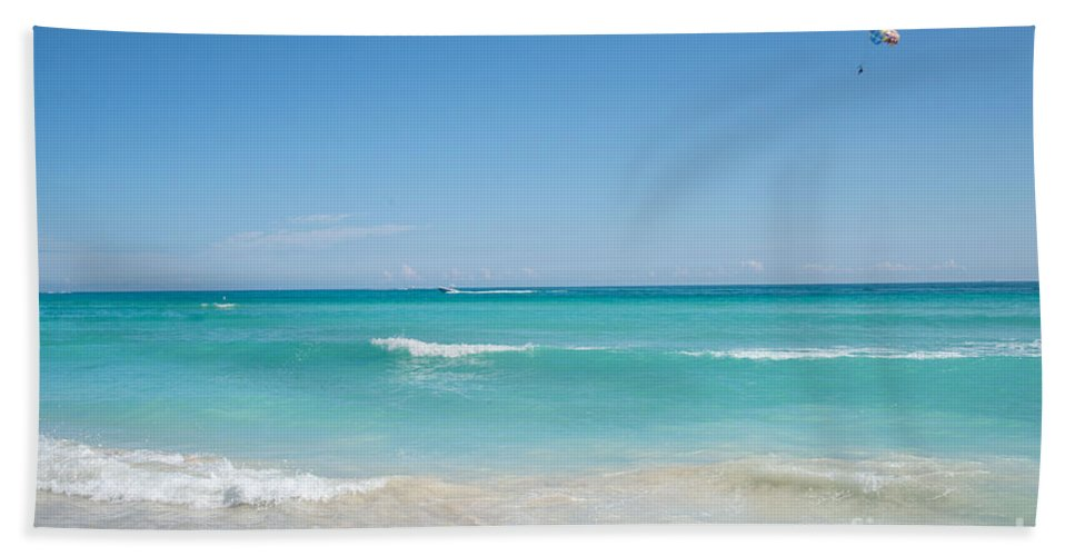 Atlantic Ocean Beach Towel featuring the digital art Miami Beach by Carol Ailles