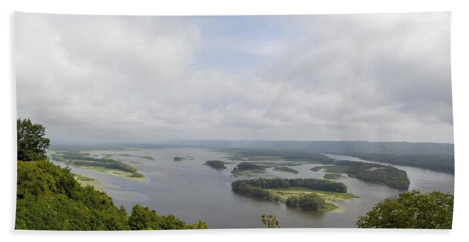 Mississippi Beach Towel featuring the photograph Mighty Miss by Bonfire Photography