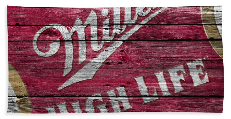 Miller High Life Beach Towel featuring the photograph Miller High Life by Joe Hamilton