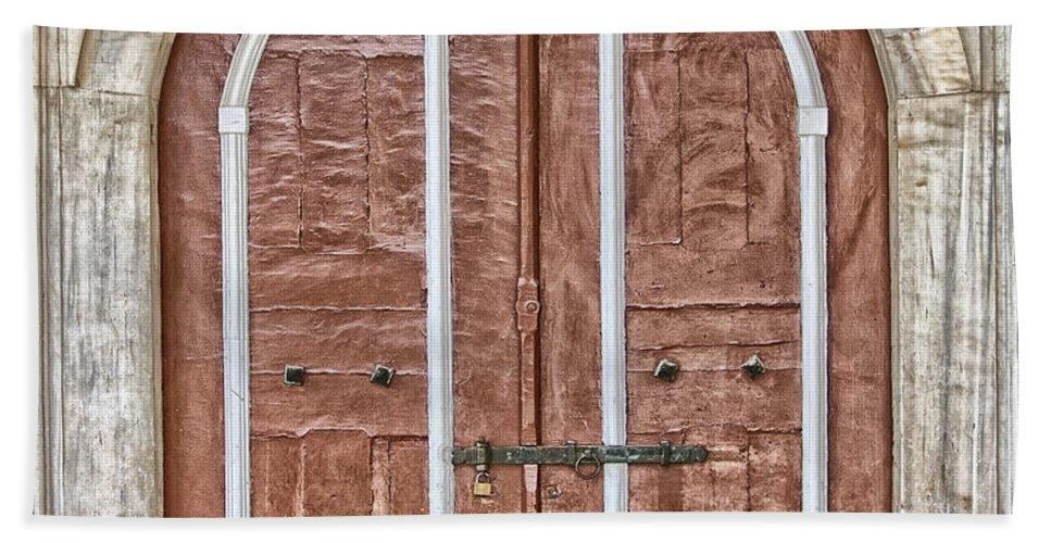 Hagia Beach Towel featuring the photograph Mosque Doors 09 by Antony McAulay