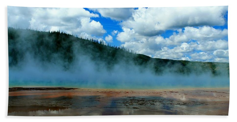 Yellowstone National Park Beach Towel featuring the photograph Nature's Beauty by Catie Canetti