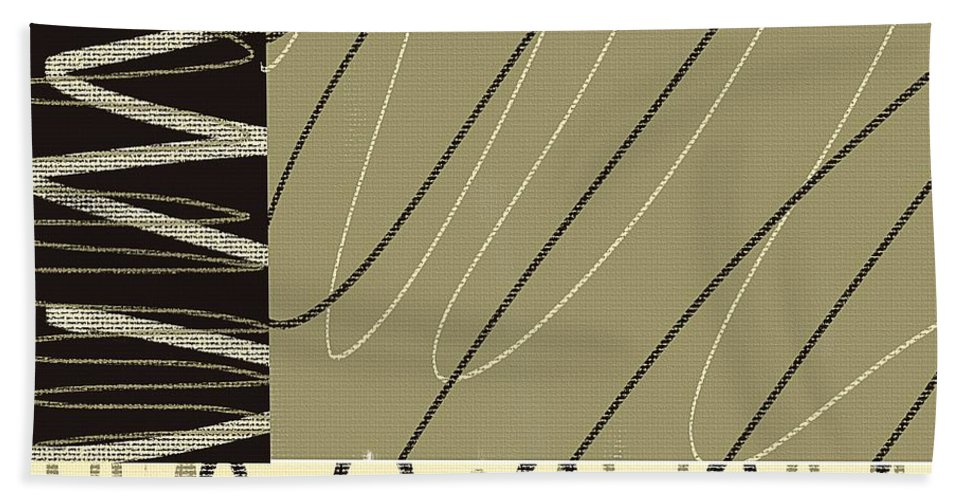 Taupe Beach Towel featuring the painting No Ending by Lourry Legarde