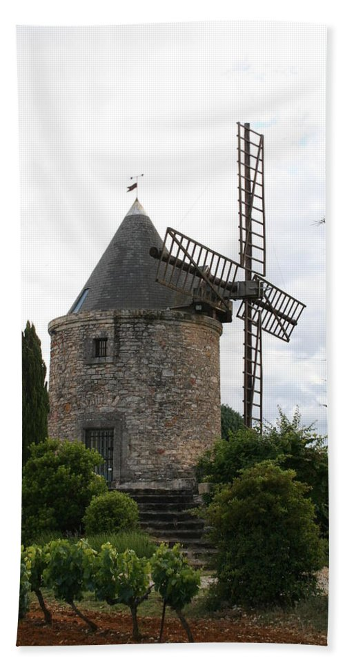 Mill Beach Towel featuring the photograph Old Provencal Windmill by Christiane Schulze Art And Photography