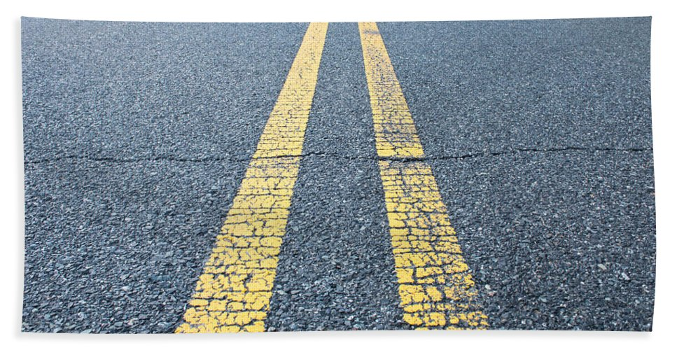 Asphalt Beach Towel featuring the photograph On The Road by Gaurav Singh