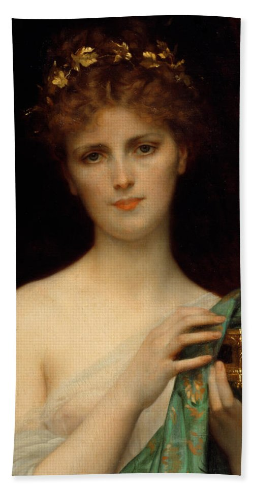 eb0a79a27956 Pandora Beach Towel featuring the painting Pandora by Alexandre Cabanel