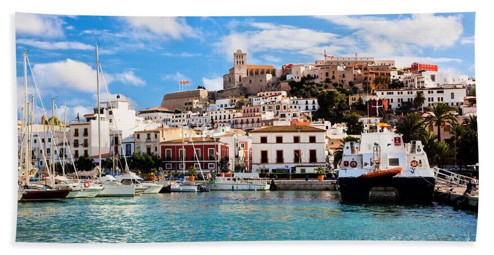 Ibiza Beach Sheet featuring the photograph Panorama Of Ibiza Spain by Michal Bednarek