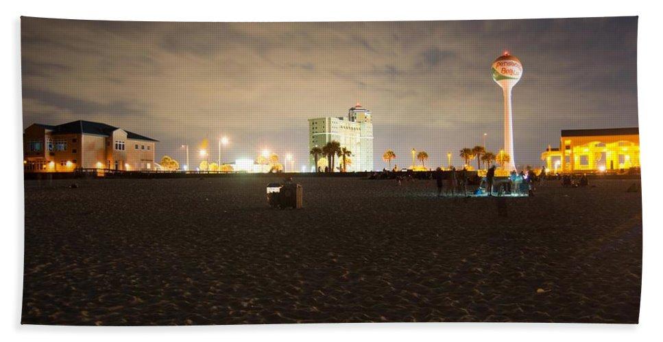 Pensacola Beach Beach Towel featuring the photograph Pensacola Beach At Night by Jon Cody