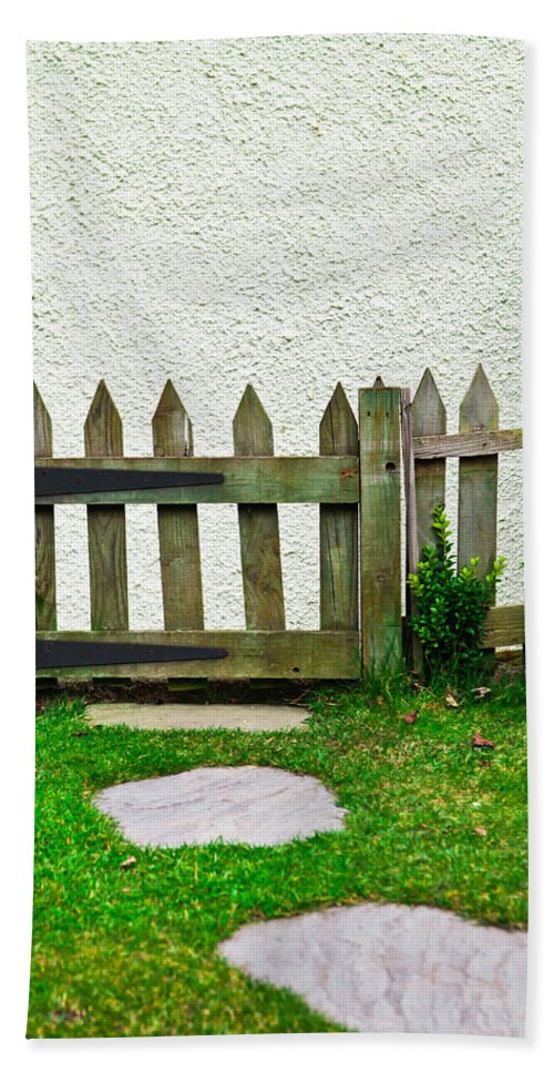 Agriculture Beach Towel featuring the photograph Picket Fence by Tom Gowanlock