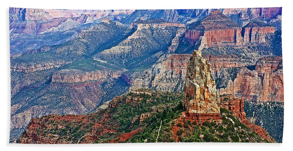 Point Imperial At 8803 Feet On North Rim/grand Canyon National Park Beach Towel featuring the photograph Point Imperial 8803 Feet On North Rim Of Grand Canyon National Park-arizona by Ruth Hager