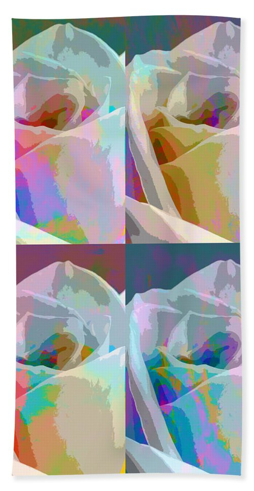 Abstract Composite Beach Towel featuring the photograph Rose Four by Linda Dunn