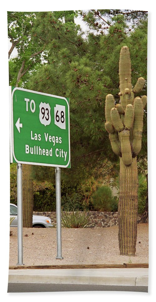 66 Beach Towel featuring the photograph Route 66 - Kingman Arizona by Frank Romeo