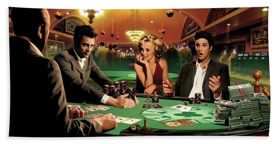 75472 Marilyn Monroe James Dean Elvis Presley Poker Wall Print POSTER Plakat