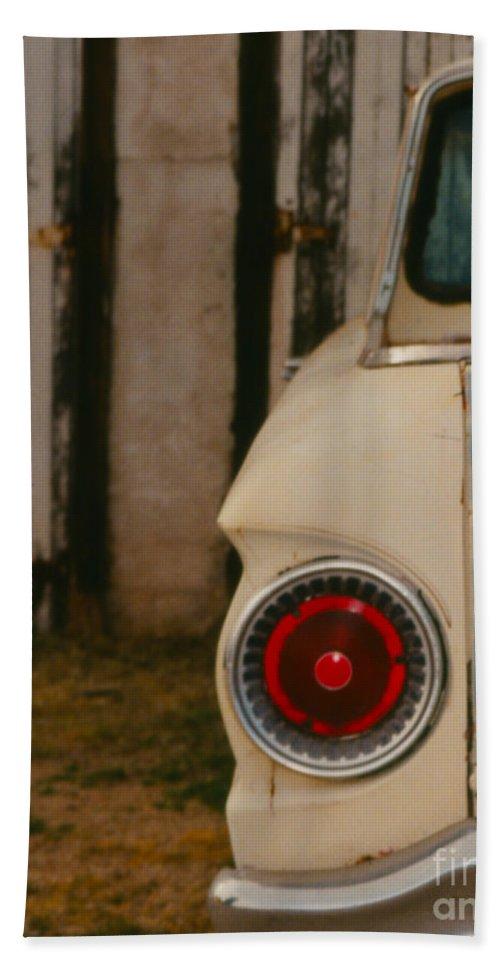 Car Beach Towel featuring the photograph Rusty Car by Heather Kirk
