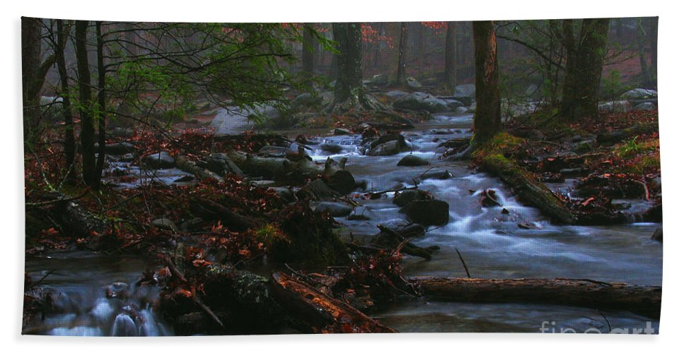 Cades Cove Beach Towel featuring the photograph Smoky Mountain Color by Douglas Stucky