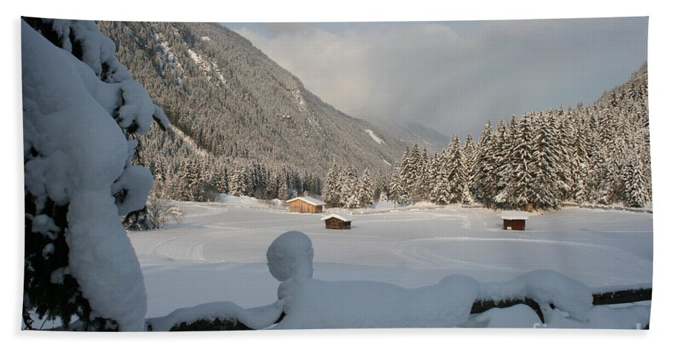 Snow Beach Towel featuring the photograph Snowed Under by Christiane Schulze Art And Photography