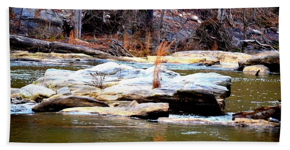 Sweetwater Creek State Park Beach Towel featuring the photograph Sweetwater Creek by Tara Potts