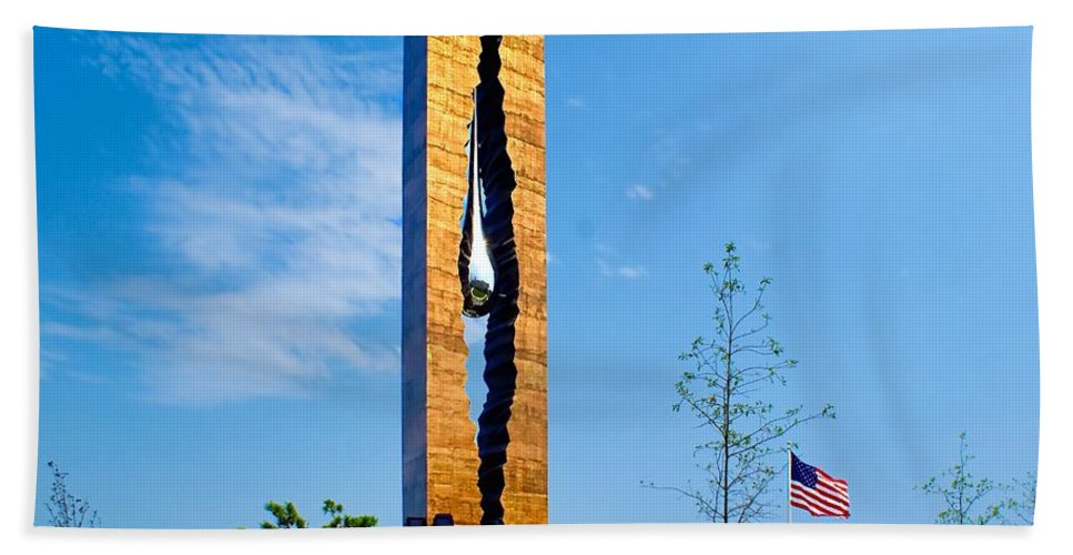 9/11 Beach Towel featuring the photograph Tear Drop Of Grief by Nick Zelinsky