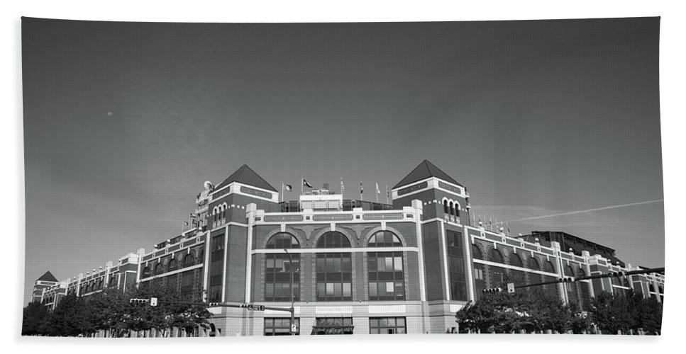 America Beach Towel featuring the photograph Texas Rangers Ballpark In Arlington by Frank Romeo