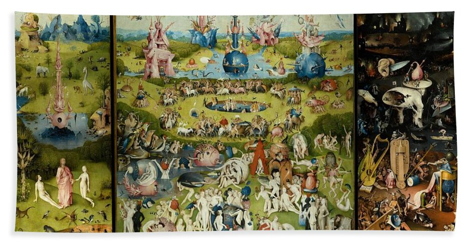 Hieronymus Bosch Beach Towel Featuring The Painting The Garden Of Earthly  Delights By Hieronymus Bosch