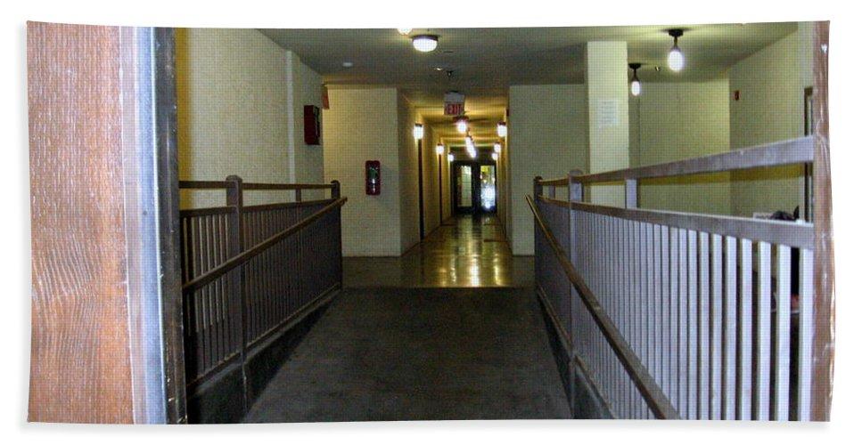 Hallway Beach Towel featuring the photograph The Hall by Amy Hosp