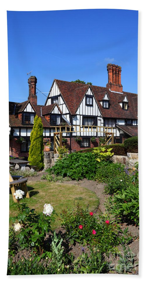English Garden Beach Towel featuring the photograph The Weavers Southborough Kent by James Brunker