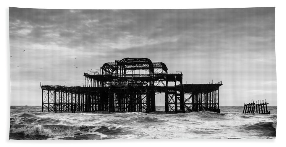 Sea Beach Towel featuring the photograph The West Pier In Brighton by Dutourdumonde Photography