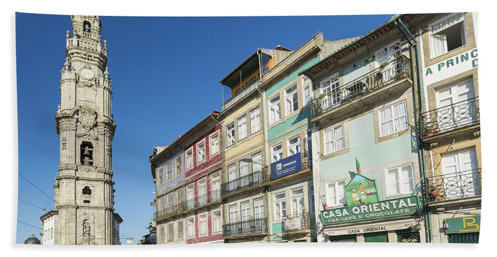 Architecture Beach Towel featuring the photograph Torre Dos Clerigos Porto Portugal by Jacek Malipan