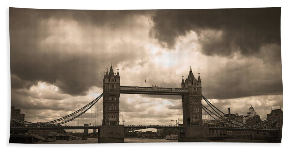 London Beach Towel featuring the photograph Tower Bridge In London by Chevy Fleet
