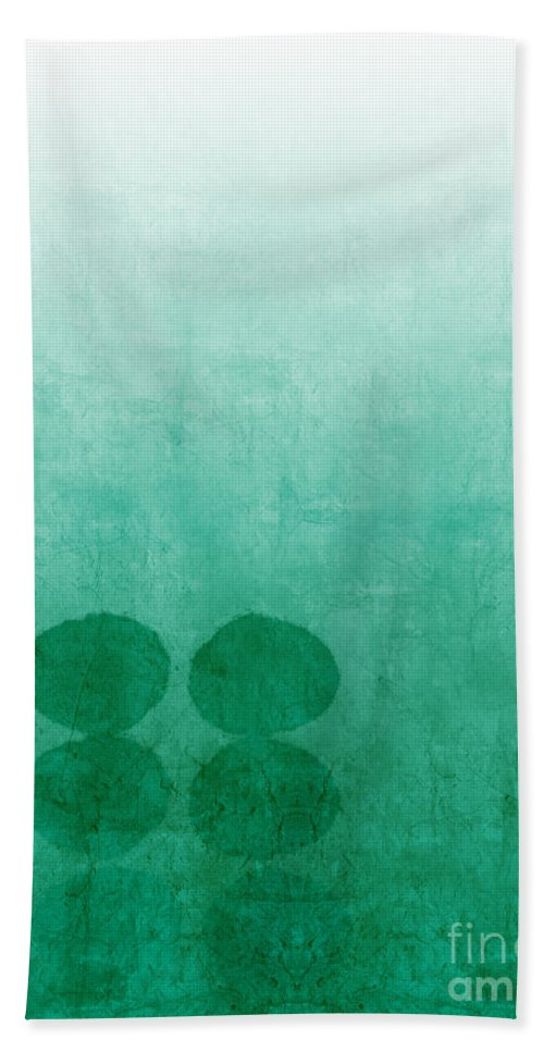 Abstract Beach Towel featuring the painting Tranquility by Linda Woods