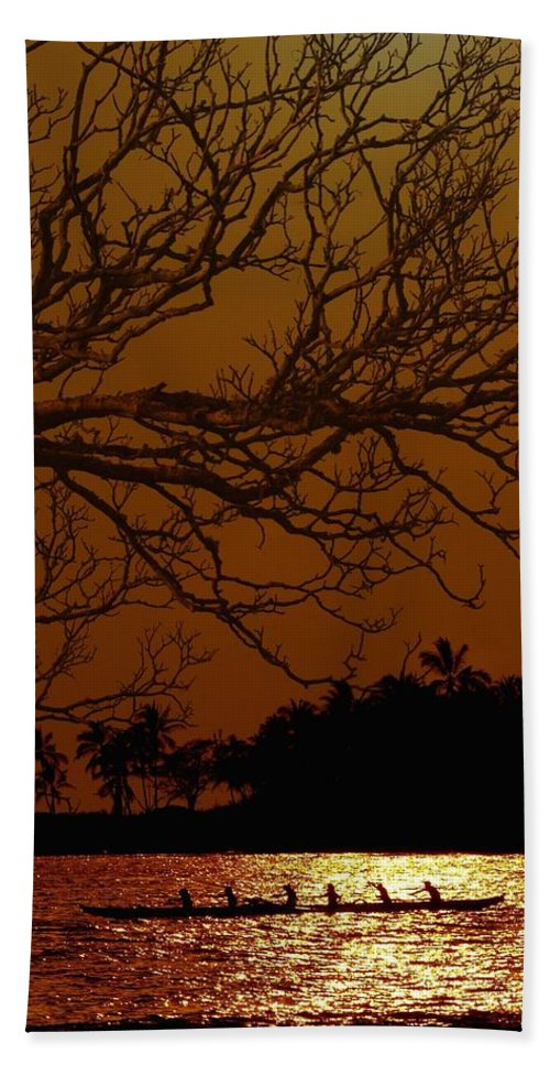 Hawaii Beach Towel featuring the photograph Under The Sunset by Athala Bruckner